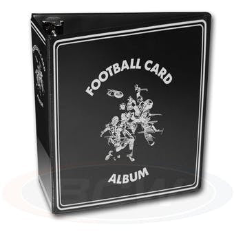 "BCW 3"" Black Football Card Collectors Album - Sports Trading Cards UK"