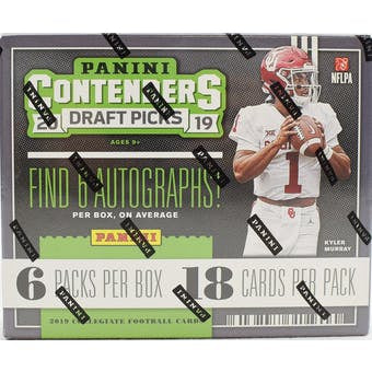2019 Panini Contenders Draft Picks Football Hobby Box - Sports Trading Cards UK