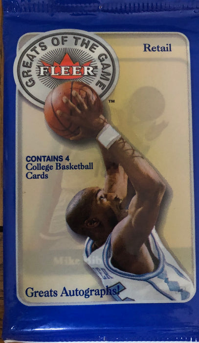2001-02 Fleer Greats Of The Game Basketball Retail Pack - Sports Trading Cards UK