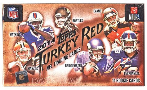 2014 Topps Turkey Red Football Hobby Box - Sports Trading Cards UK