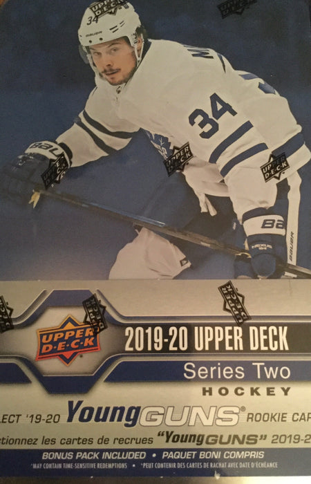 2019-20 Upper Deck Series 2 Hockey 9ct Tin Box - Sports Trading Cards UK