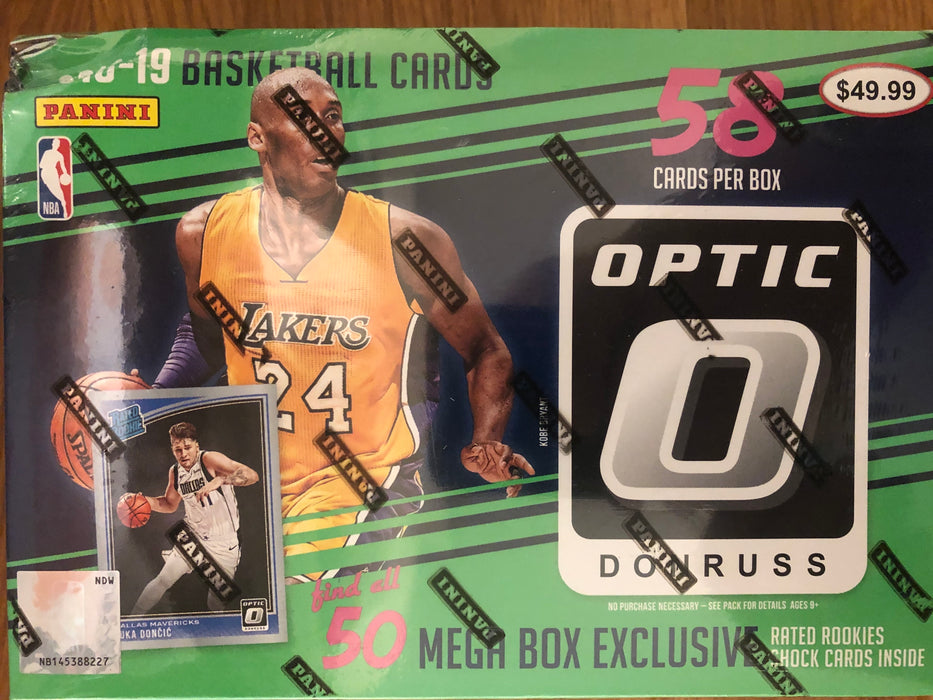2018/19 Panini Donruss Optic Basketball 58ct Mega Box - Box has a damaged corner, see pictures. - Sports Trading Cards UK