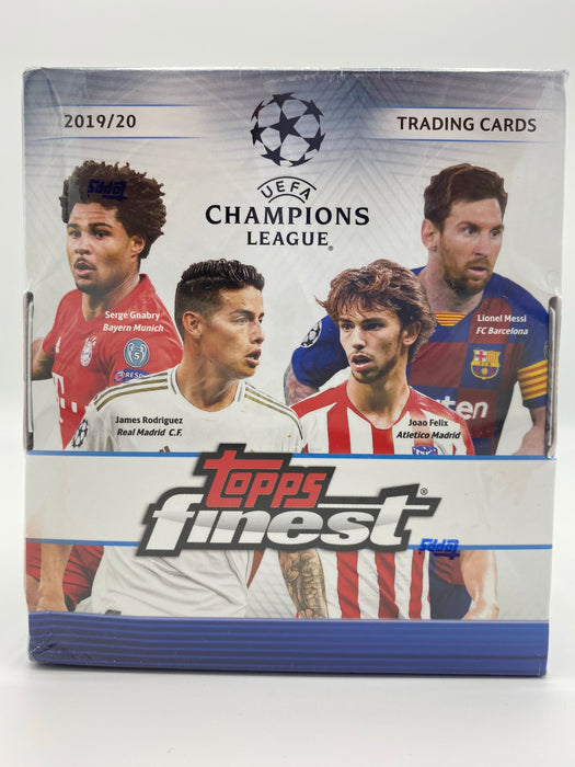2019-20 Topps Finest UEFA Champions League Soccer Hobby Box - Sports Trading Cards UK