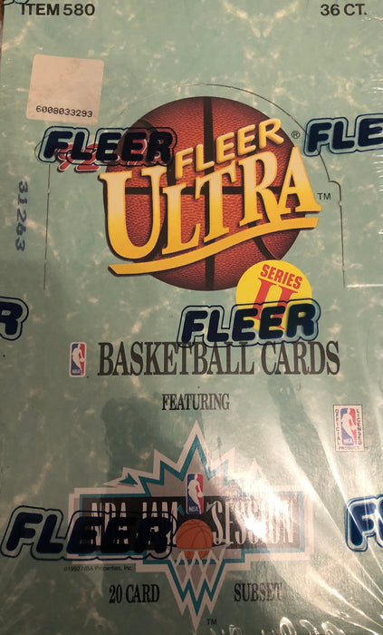 1992-93 Fleer Ultra Series 2 Basketball Box - Sports Trading Cards UK