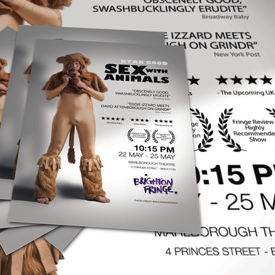 The ULTIMATE Brighton Fringe Package: 5000 A6 Flyers + 100 A3 Posters