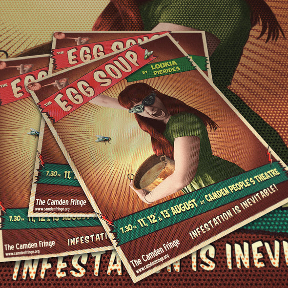 The ECONOMY Camden Fringe Printing Package: 500 A6 130gsm + 25 A3 Posters