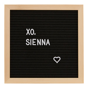 Keep Growing Black Felt Letter Board