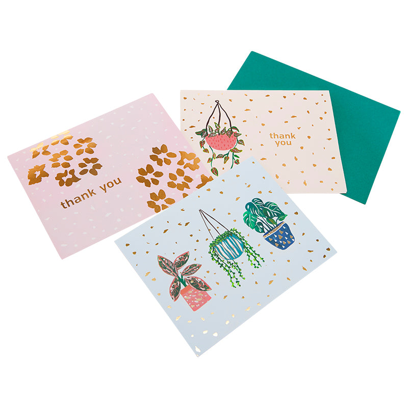 Box set of 10 thank you note cards and matching envelopes