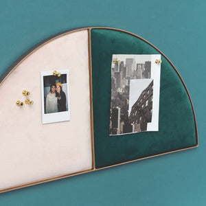 Graphic Impact Half Moon Pin Board