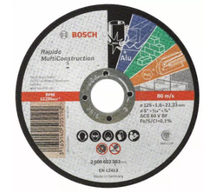 Disque Multiconstruction 125 x 1.6