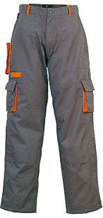 Pantalon PADDOCK Gris/Orange XS / 36-38