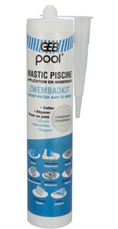 Mastic Piscine Blanc 290 ml Pool
