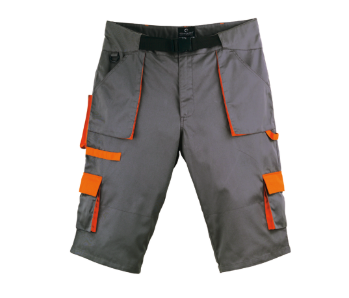 Short PADDOCK Gris/Orange    L / 48-50