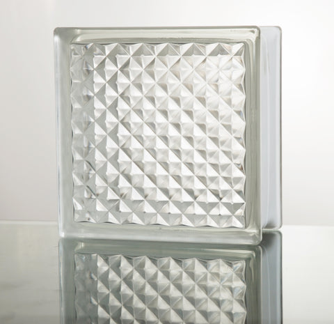 Bric verre LATTICE CLAIR 19*19*8
