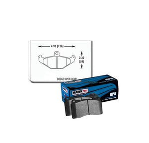 Hawk Racing Street Brake Pad Set Front Rear Viper 92-00
