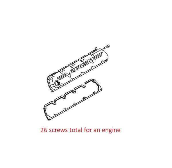 Valve Cover Bolt Chrome Stainless Screw Viper 92-06