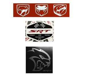 Viper and SRT Logo Sticker Decal