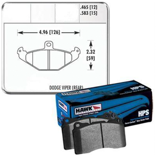 Hawk Racing Street Brake Pad Set Front Viper 03-17