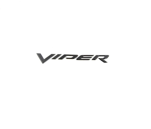 Rear Bumper Badge Decal Emblem Black SRT10 03-10 Viper