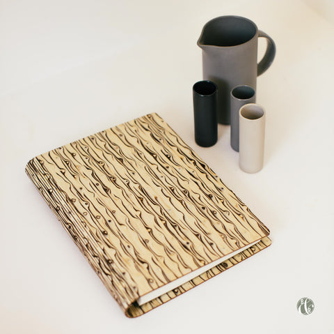 Bark & Rock Wild Iced Burr natural wood notebook