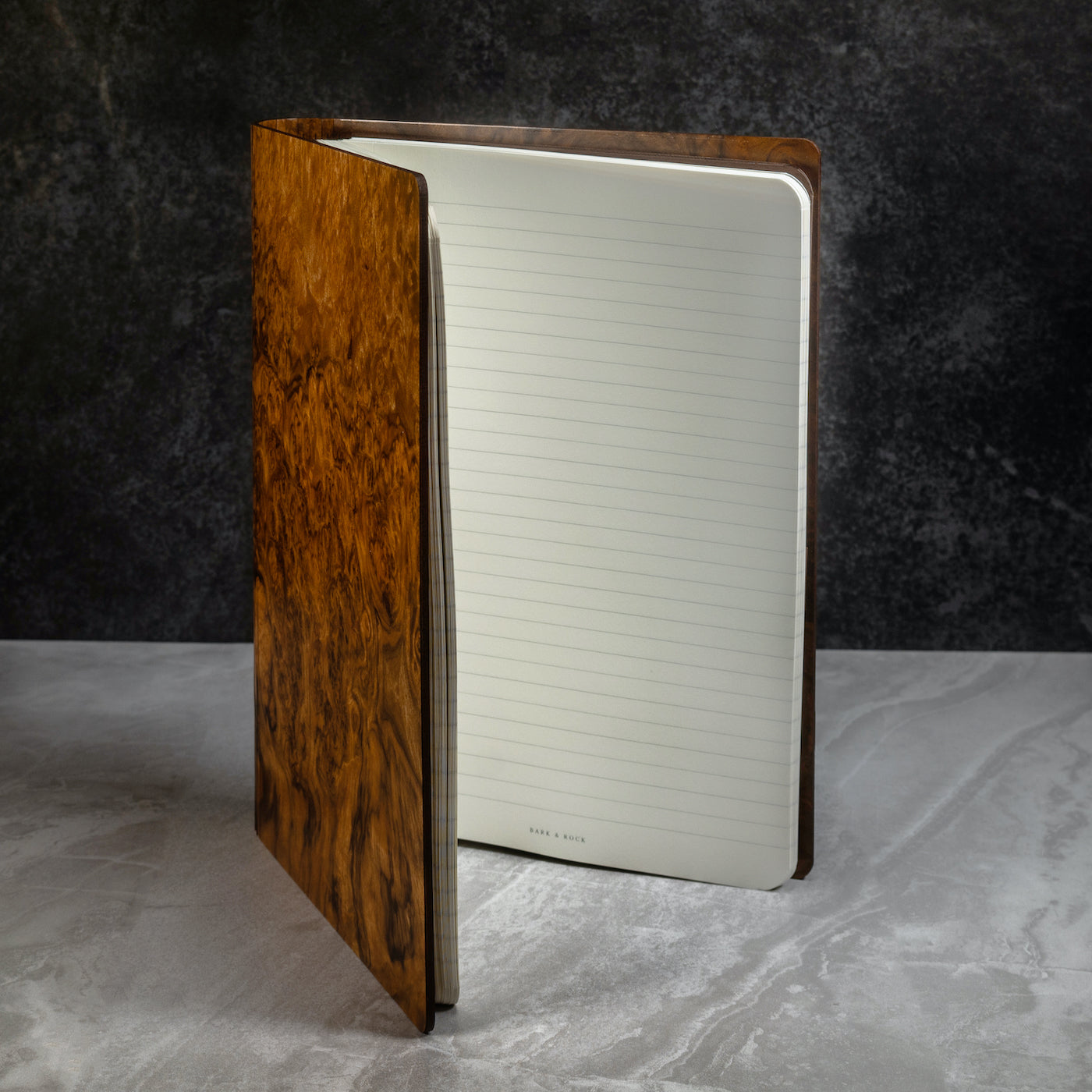 Bark & Rock Walnut Burr Luxury Wood Journal