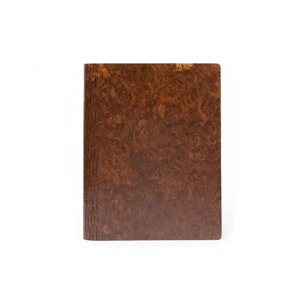 Bark & Rock Brown Oak Burr Luxury Wood Journal