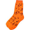 Unisex Socks Size 9-13 - Notes (Neon Orange)