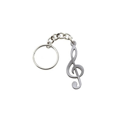 Music Note Key Chain Pewter