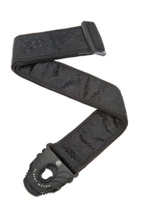 D'Addario Planet Lock Guitar Strap, Black Satin