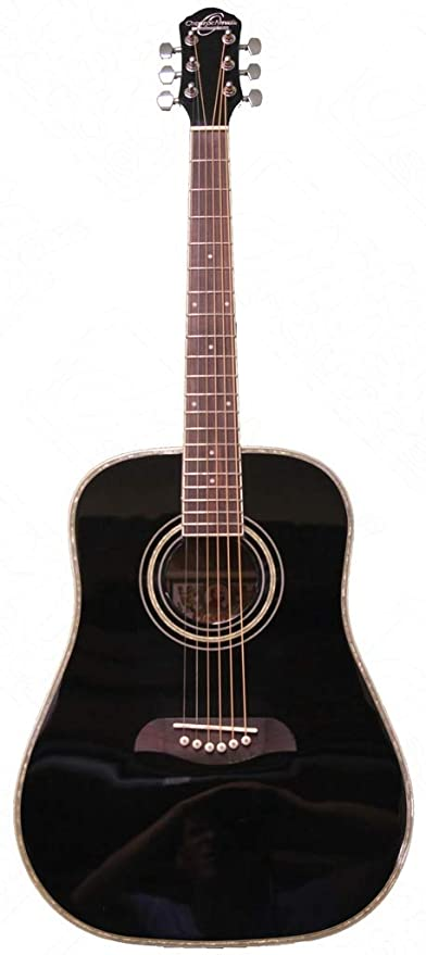 Oscar Schmidt OG1BLH 3/4 Size Dreadnought LEFT HAND Acoustic Guitar, Black