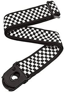 D'Addario Planet Lock Guitar Strap, Check Mate