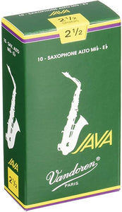 Vandoren Java Alto Saxophone Reeds Strength - Box of 10