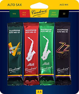 Vandoren Alto Saxophone Jazz Reed Sample Pack