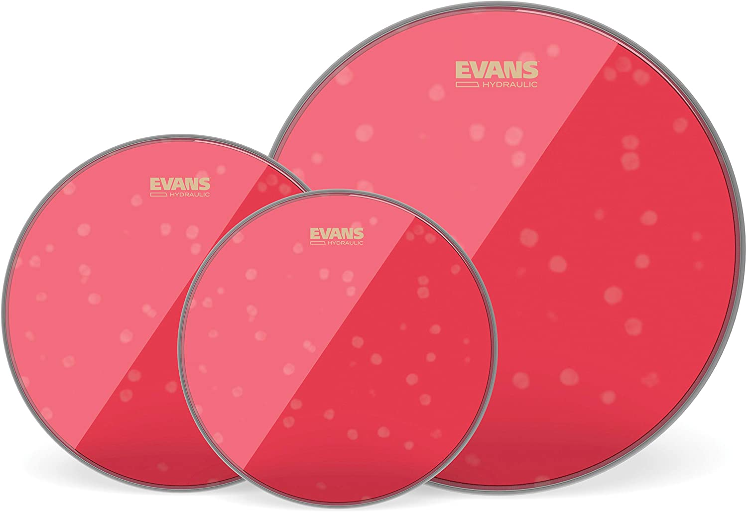 "Evans Hydraulic Red Standard Pack (12"", 13"", 16"") with 14"" UV1 Coated Snare Batter"