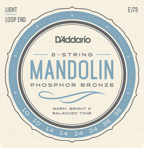 D'Addario EJ73 Mandolin Phosphor Bronze (8 strings), Full Set