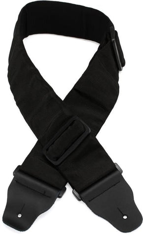 D'Addario Bass Guitar Strap, Black, 3 Inches Wide
