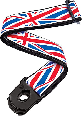 D'Addario Planet Lock Guitar Strap, Union Jack