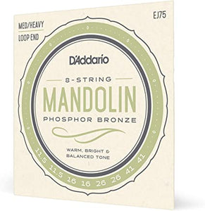 D'Addario EJ75 Phosphor Bronze Mandolin Strings, Medium/Heavy, 11.5-41
