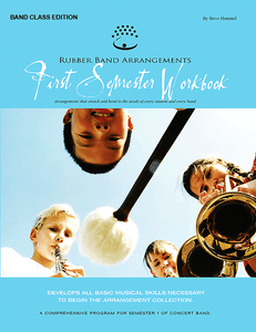 Rubber Band Arrangements First Semester Workbook - Mallets