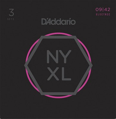 D'Addario NYXL0942 Nickel Wound Electric Guitar Strings, Super Light, 9-42