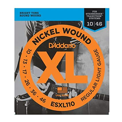 D'Addario ESXL110 Nickel Wound, Regular Light, Double BallEnd, 10-46