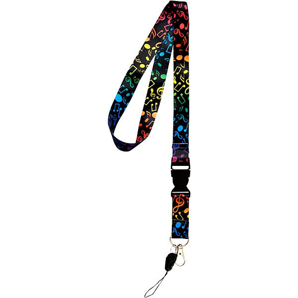 Multi Color Music Notes Lanyard