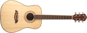 Oscar Schmidt OGHS-A-U 1/2 Size Dreadnought Acoustic Guitar Natural, Right Handed