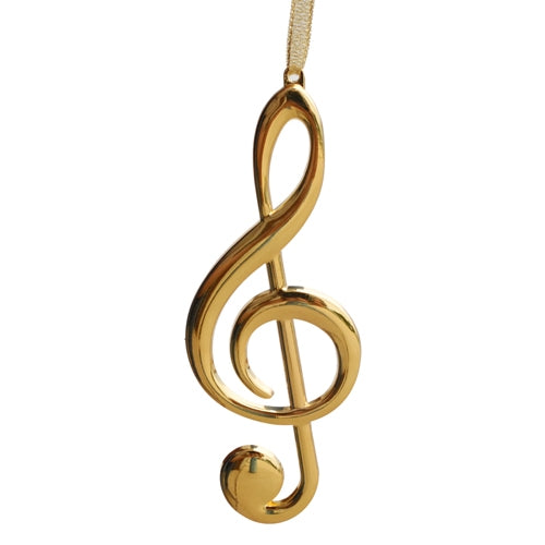 G-Clef Gold Ornament