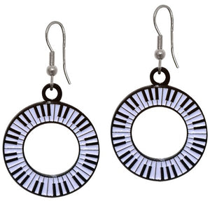 Keyboard Circle Earrings