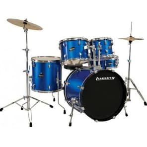 "Ludwig Element Evolution 5-piece Drum Set with Zildjian I Cymbals - 22"" - Blue Sparkle"