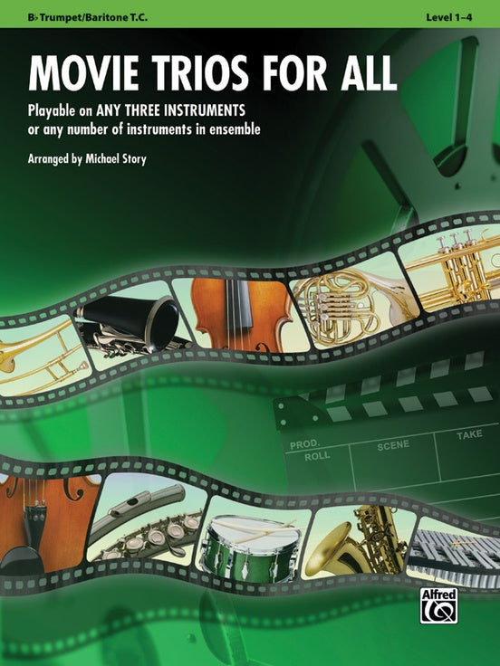 Movie Trios for All: B-flat Trumpet, Baritone T.C. Book
