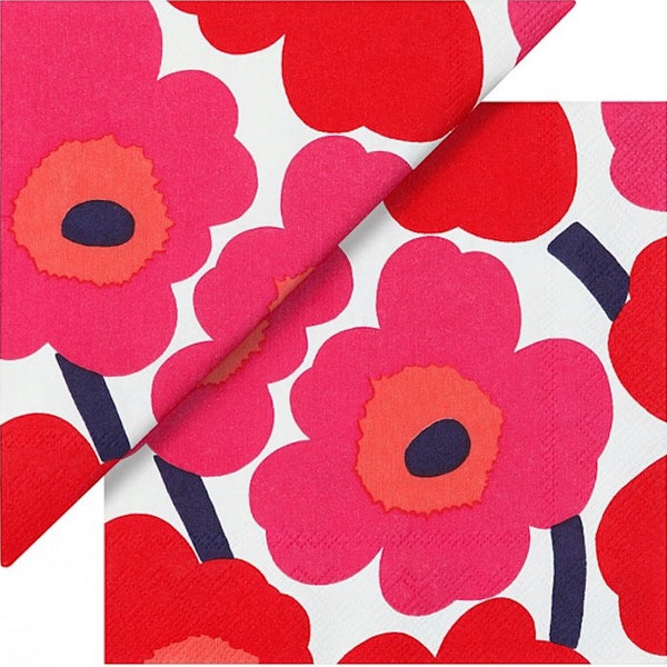 Unikko Paper Napkins - Red