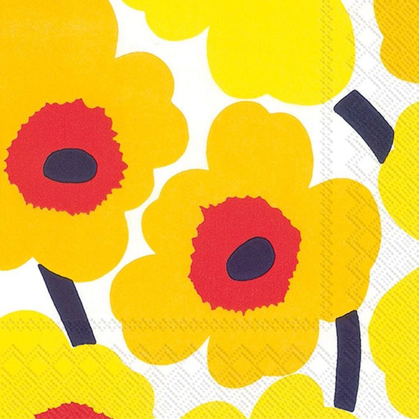 Unikko Paper Napkins - Yellow
