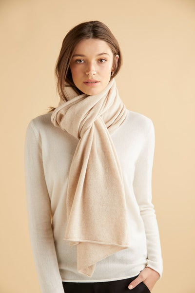 Sloane Cashmere Wrap - Burnt Butter